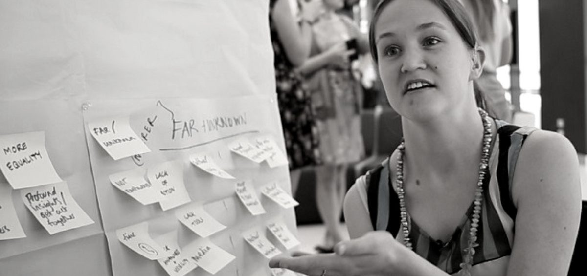 Photo of Zoe at innovation workshop