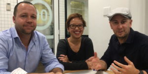 Ben Reid, Margaret Cheng and Pete Horsely