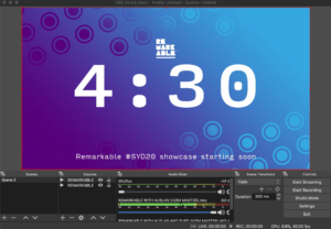 Screenshot of the video editing software used to create SYD20 pitch videos.