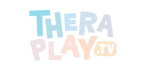 Theraplay logo, which is their company name written in a capitalised multi-coloured font.