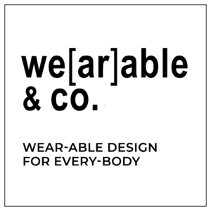 Wearable & Co logo, which is their company name written in black bold font accompanied by the tagline 'Wear-able design for every-body'.