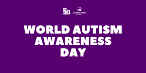 Purple Background with bold white title 'World Autism Awareness Day'