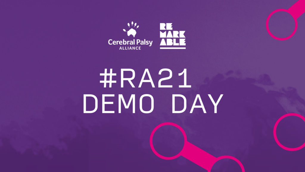 Purple background with bold white title that reads '#RA21 Demo Day' and the CPA and Remarkable logo in the top-centre of the image.